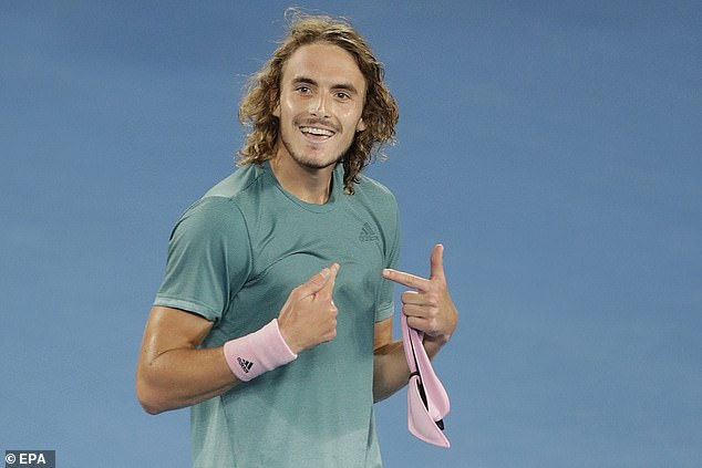 Stefanos Tsitsipas became a fan favourite after his semi-final run included beating Federer