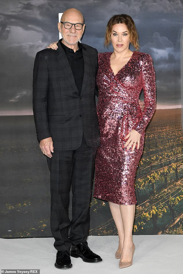 Impressive: the X-Men actor also joined his wife at the event, who would surely draw attention at the premiere with a pink mini sequin dress
