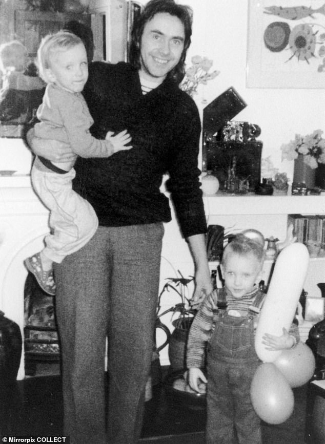 Colin Caffell with his twin sons Nicholas and Daniel who were murdered along with their mother Shelia Caffell and her parents at White House Farm by her adoptive brother Jeremy Bamber in 1985