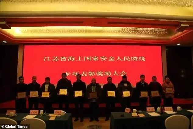 The prize for each of the fishermen ranged from tens of thousands of yuan to 500,000 yuan (£55,000), according to state newspaper Global Times , quoting online sources
