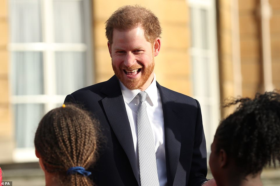 Harry corpsed after one asked by a young rugby player as the world watched his first royal engagement since he quit