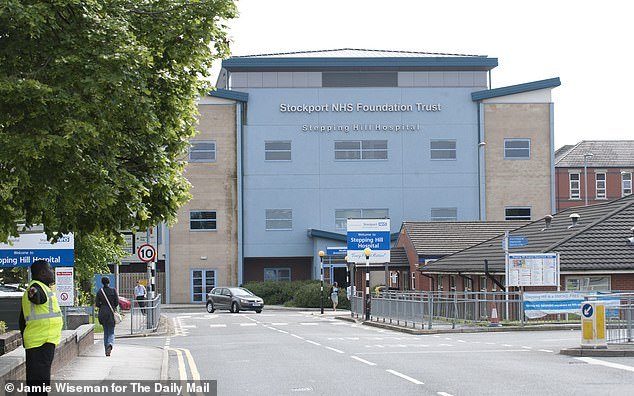 Stockport NHS trust, which runs Stepping Hill Hospital (pictured), had the worst performing emergency department in England last year, with only 70 per cent of its patients getting discharged or admitted within four hours