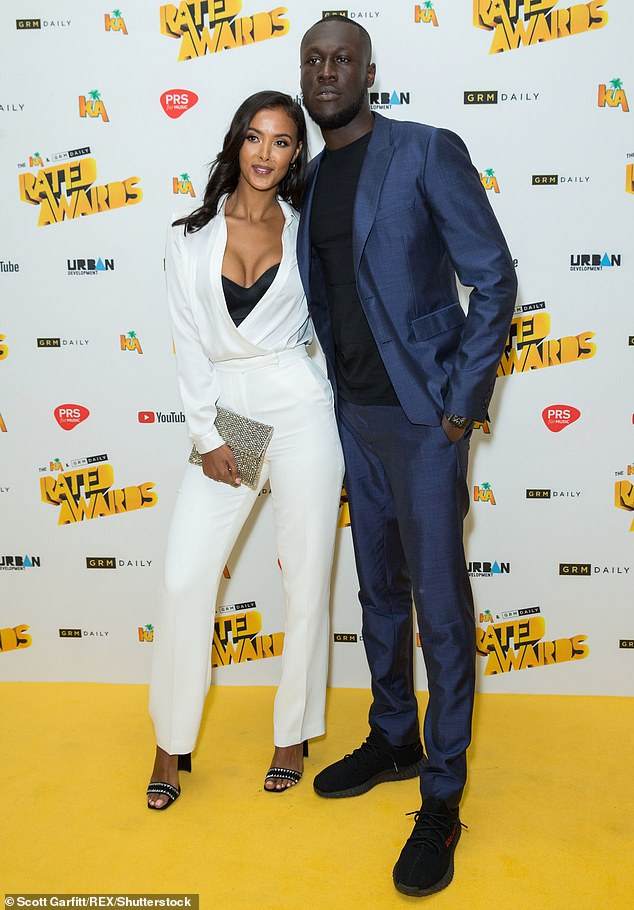 Reconciliation? Stormzy has declared that he still loves Maya Jama 'with all his heart' and wants to get married and have children with his ex-girlfriend in the future (pictured in June 2018)