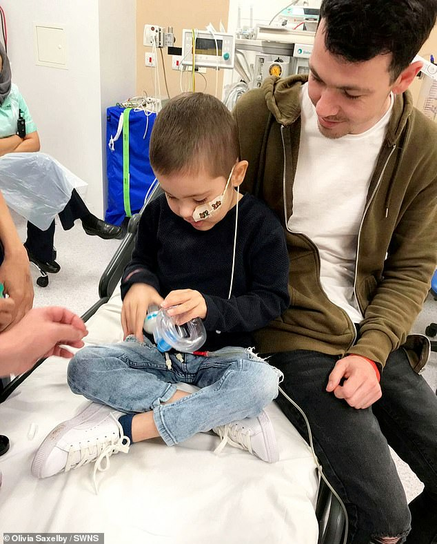 But parents Olivia Saxelby, 26, and Jamie Lee, 23, were left devastated when they discovered the disease had returned despite Oscar's stem cell transplant last spring