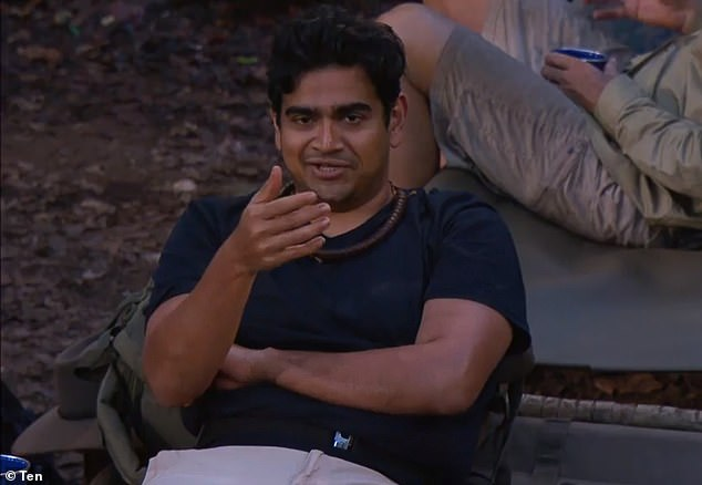'I can give a first-hand account': I'm a Celebrity's first evictee, Dilruk Jayasinha (pictured), has confirmedRyan Gallagher and Charlotte Crosby's jungle romance is 100 per cent genuine