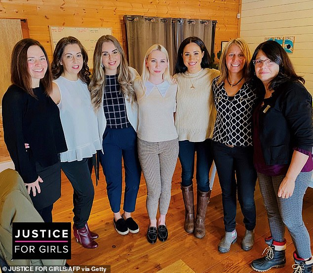 Meghan also visited the non-profit group Justice for Girls in Canada on Tuesday