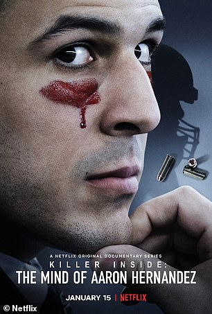 The poster for Killer Inside: The Mind of Aaron Hernandez is shown above