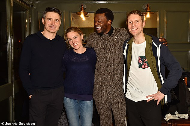 Actors assemble: (left to right) Holby City's Tom Chambers, Death in Paradise's Sally Bretton, Hollyoaks' Michael Salami and Coronation Street's Christopher Harper