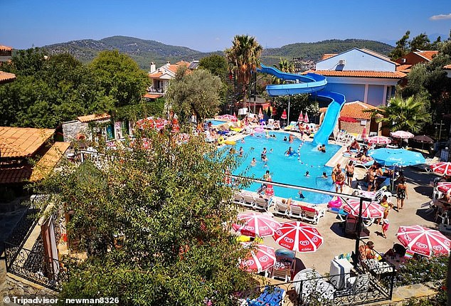 Tourists who booked an all-inclusive getaway at Ova hotel, Oludeniz, pictured in August 2018, have been forced to re-book after it was taken over by new management