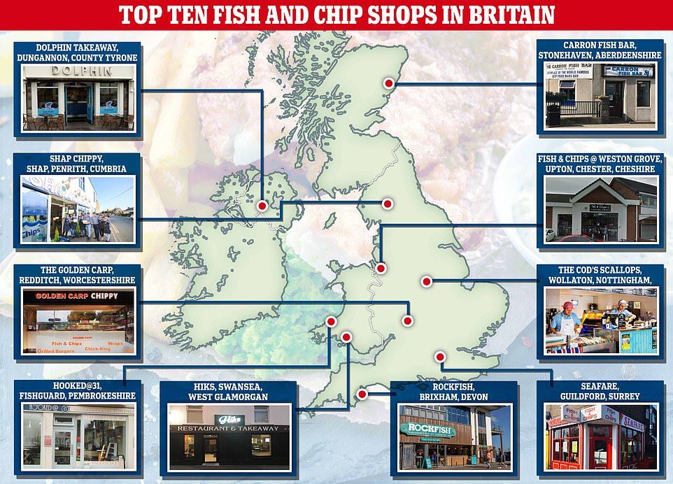 Britain's 10 best chippies will distribute FREE food TODAY