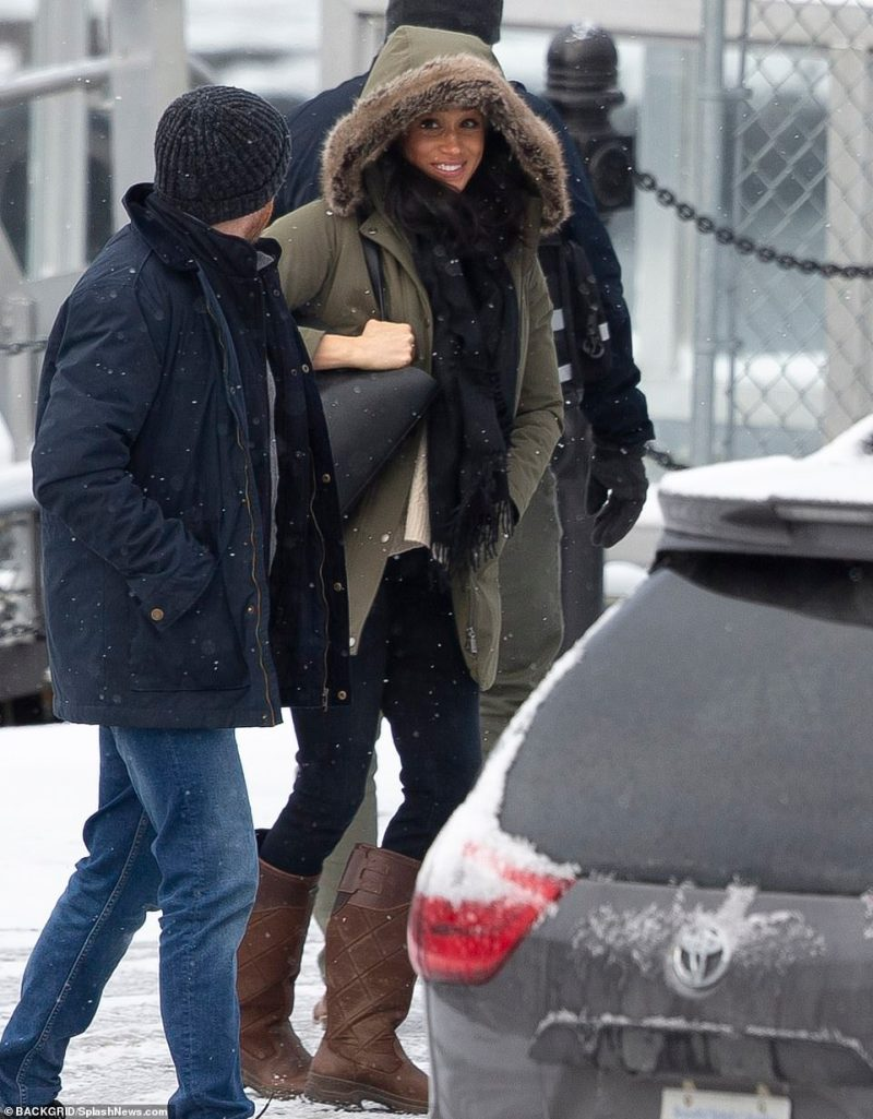 Meghan broke cover for the first time on Tuesday to visit a women's shelter in Canada's poorest neighbourhood