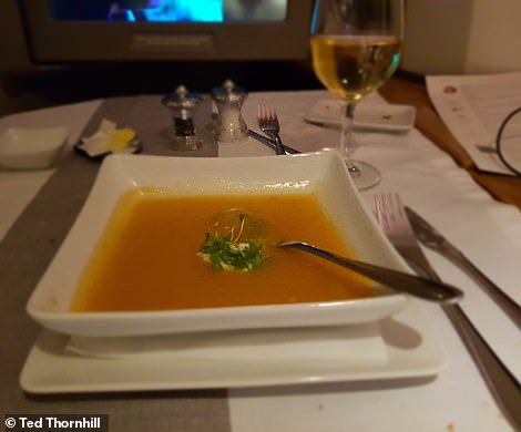 The second course - aromatic squash soup