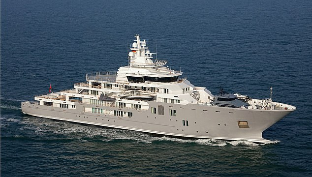 For the duration of the Google Camp event, Mr Milner was based on a $250million superyacht called Andromeda, anchored a launch ride offshore
