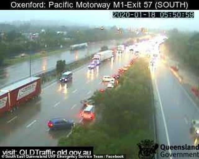 Chaos hit Queensland roads as the rain bomb dumped precipitation on the Gold Coast