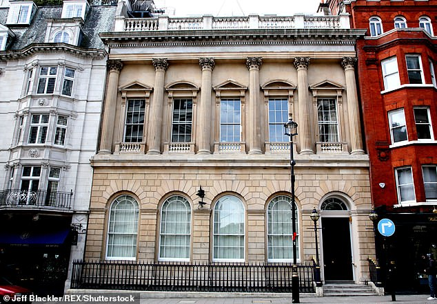 The redoubtable Widders is in no doubt that her remarkable political comeback led to her being booted out of the London bastion (pictured) of the Conservative Party, which occupies a splendid townhouse in St James¿s