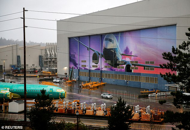 Boeing 737 Max fuselages are seen parked outside the company's production facility in Renton, Washington, a week ago. January 10, 2020.