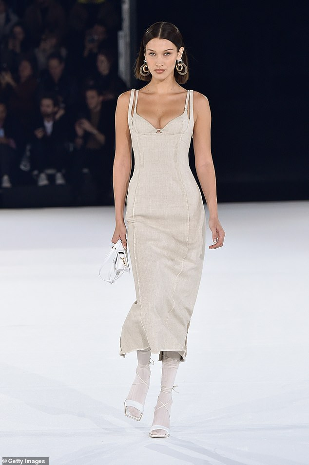 Wow:Bella Hadid and her sister Gigi looked sensational as they walked the runway for the Jacquemus Menswear Fall/Winter 2020-2021 show in the French capital on Saturday