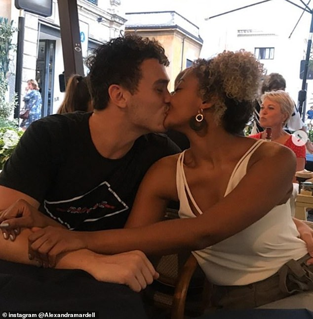 In love: The actress shared ten photos on her Instagram Thursday that documented the couple's romance since they first met at the Guildford School of Acting