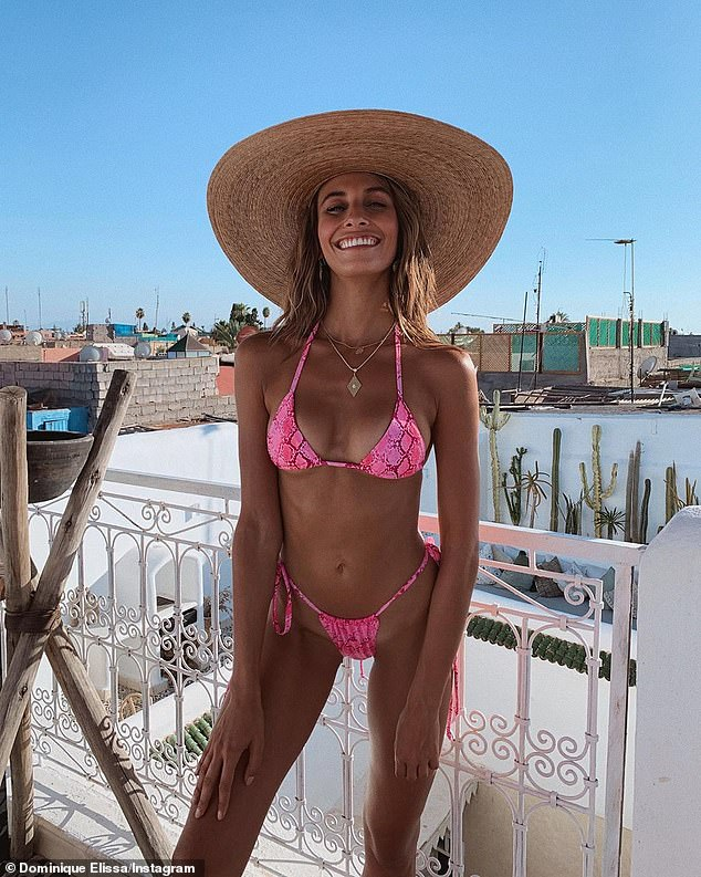 The 24-year-old (pictured) from Sydney said while she doesn't follow these rules all the time, if she is strict with herself in the final lead-up, she feels and looks better in front of the camera