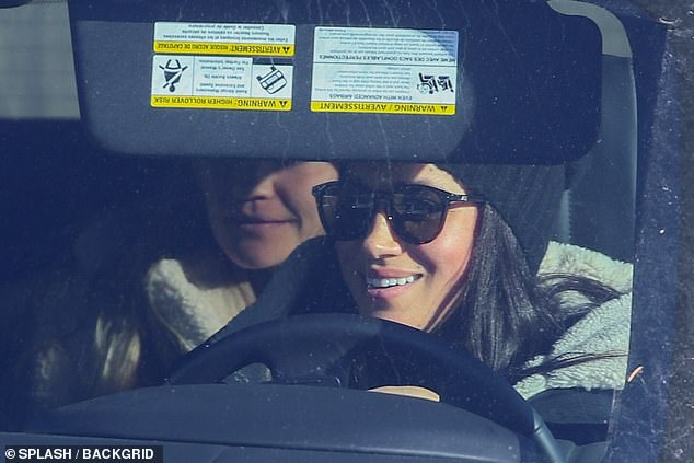 Prime Minister Justin Trudeau declined to comment on the bombshell news, but newspapers were quick to weigh in. Pictured: Meghan driving in Canada earlier this week