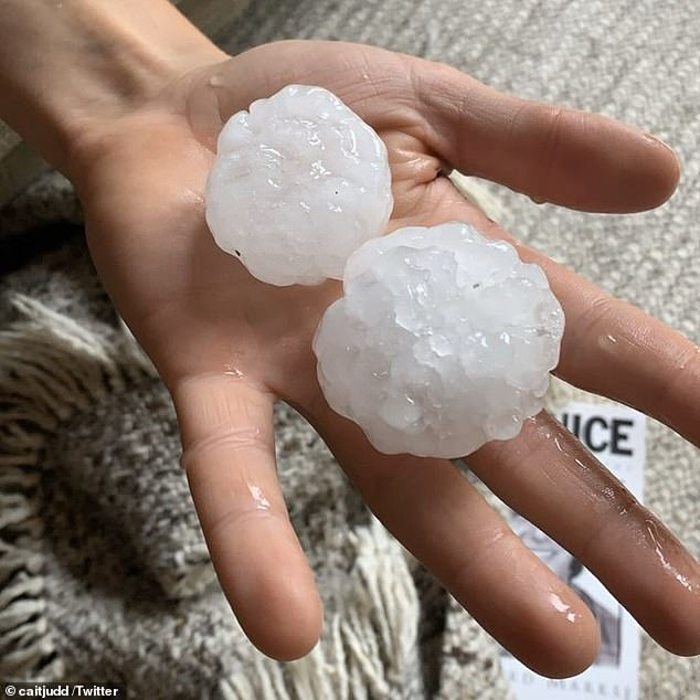 'Victoria is about to see its wettest two-day period in many, many months,' Bureau of Meteorology senior forecaster Dean Narramore said on Sunday as hail battered areas of the state