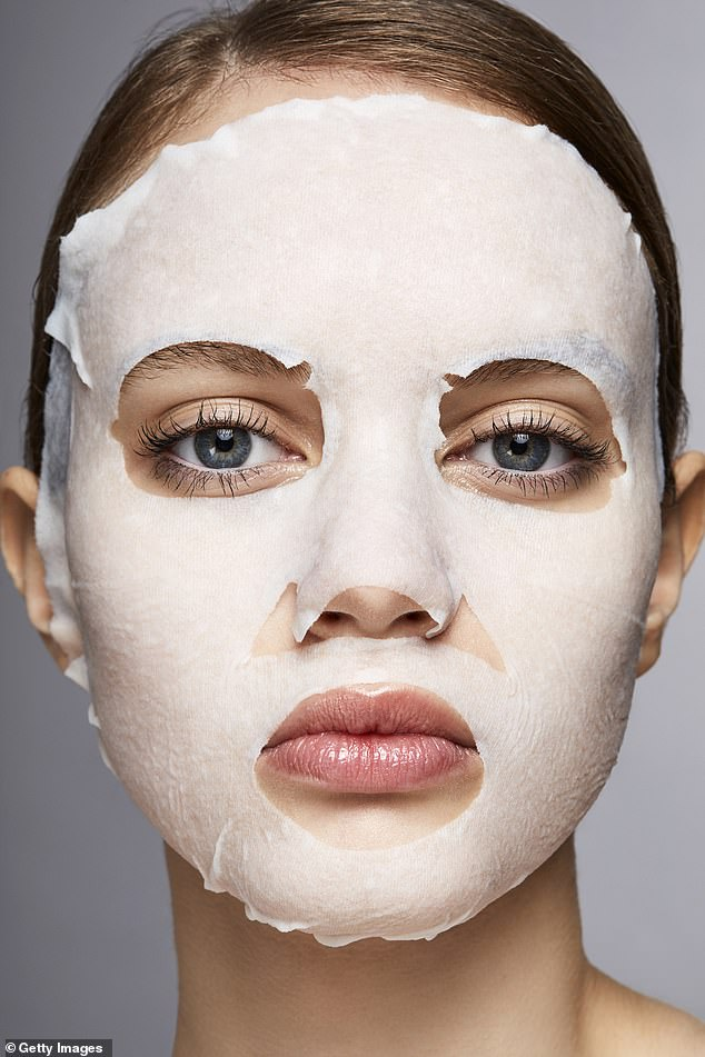Alice Hart-Davis revealed a selection of the best eco-friendly sheet masks for a clear complexion (file image)