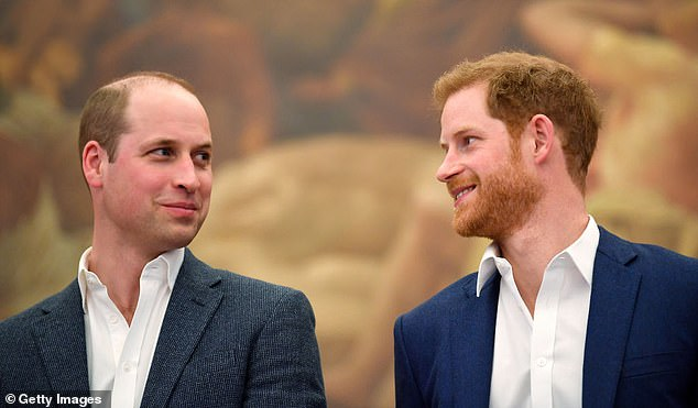 The two-year quarrel stopped after they realised it was 'now or never', with Harry (right) expected to fly to Canada to rejoin wife Meghan Markle and baby Archie
