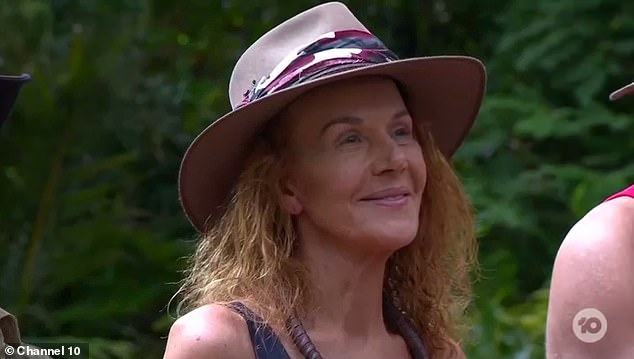 The revelations came after Brownless opened up to fellow I'm a Celebrity ... Get Me Out of Here contestant Rhonda Burchmore (pictured)