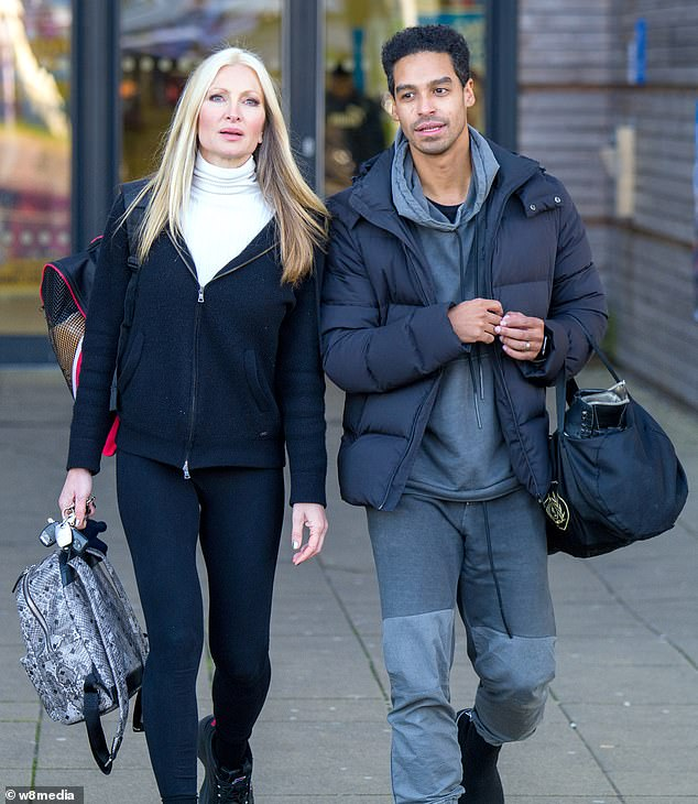 Dancing on Capr-ice! DOI star Caprice Bourret was spotted with Swiss skater Oscar James on Monday afternoon, as she headed to the rink to continue her training for the ITV show