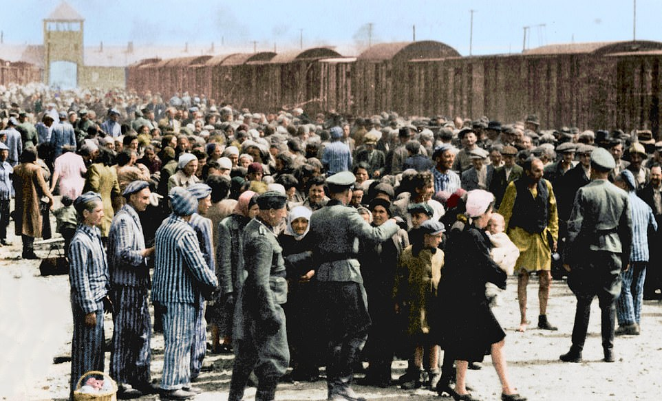 Recently colored pictures of Auschwitz 75 years ago reveal the horror of the notorious concentration camp