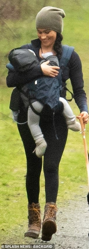 Casual Monday: The Duchess of Sussex donned $98 Lululemon 'Align' leggings for the outing