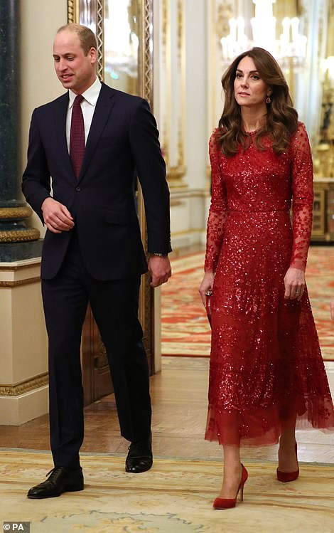 The Duke and Duchess of Cambridge arriving at the reception at London's Buckingham Palace to mark the UK-Africa Investment Summit