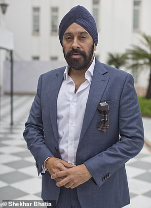 Sikh historian Peter Singh Bance (pictured) told Laurence Fox to 'check his facts'