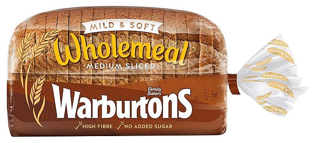 The list comprised both own-label and branded items, including Warburtons wholemeal loaf