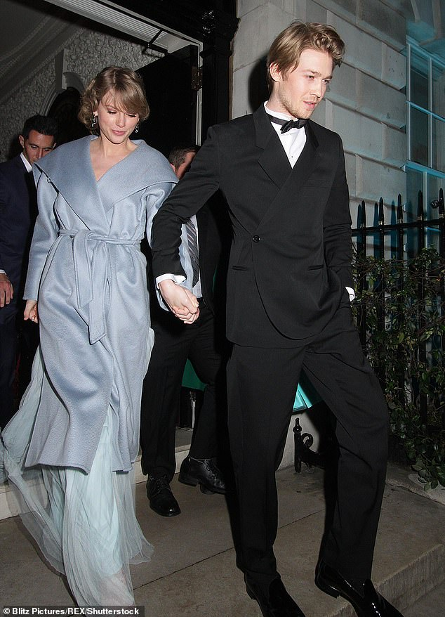 Swift pictured with her supportive boyfriend British actor Joe Alwyn in February 2019