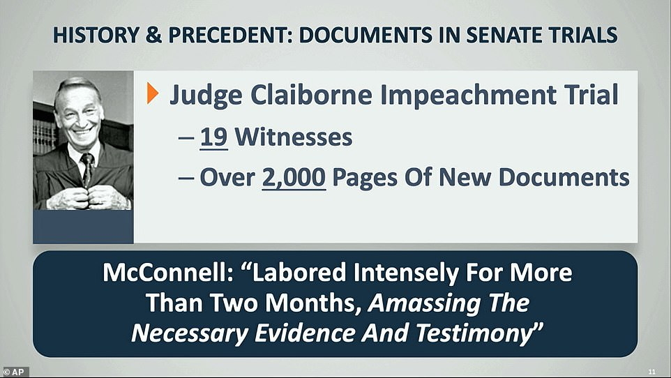 Democrats pointed to documents accumulated for past impeachments