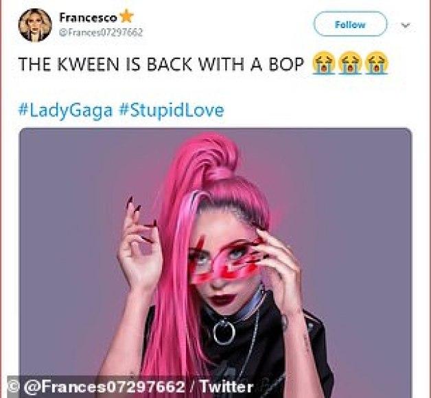 Salvador: @SamStryker agregó: 'Lady Gaga regresa con Stupid Love para guardar música pop', mientras que @ Frances07297662 dijo: 'The Kween está de vuelta con un bop'