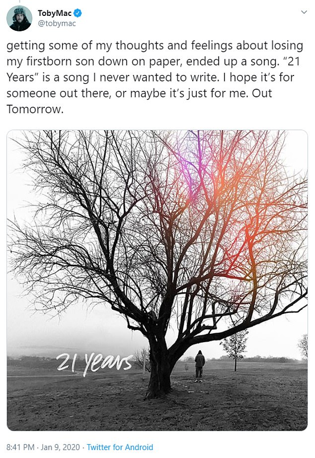 TobyMac touched on losing his son as he spoke about his latest track 21 Years