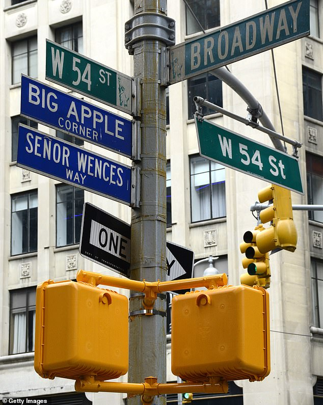 In 1997, the columnist who helped make it popular was honored with a 'Big Apple Corner' street sign outside where he lived at West 54th Street and Broadway