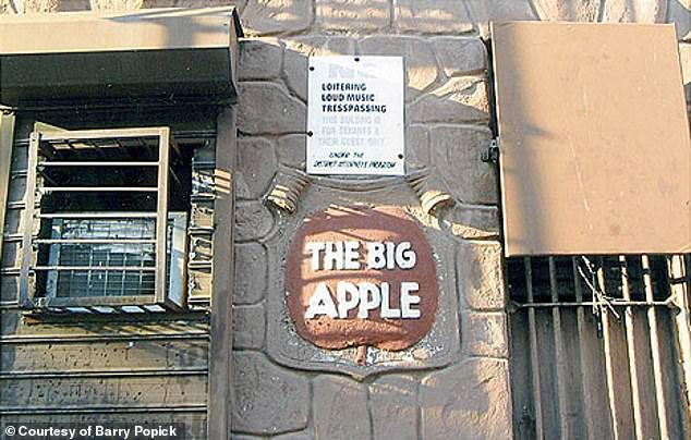 Records show that the nickname was popular on the Harlem jazz scene in the 1930s with two clubs named The Big Apple. Pictured is the old sign outside the Big Apple jazz club on 135th Street but neither the jazz club nor the sign out front remains