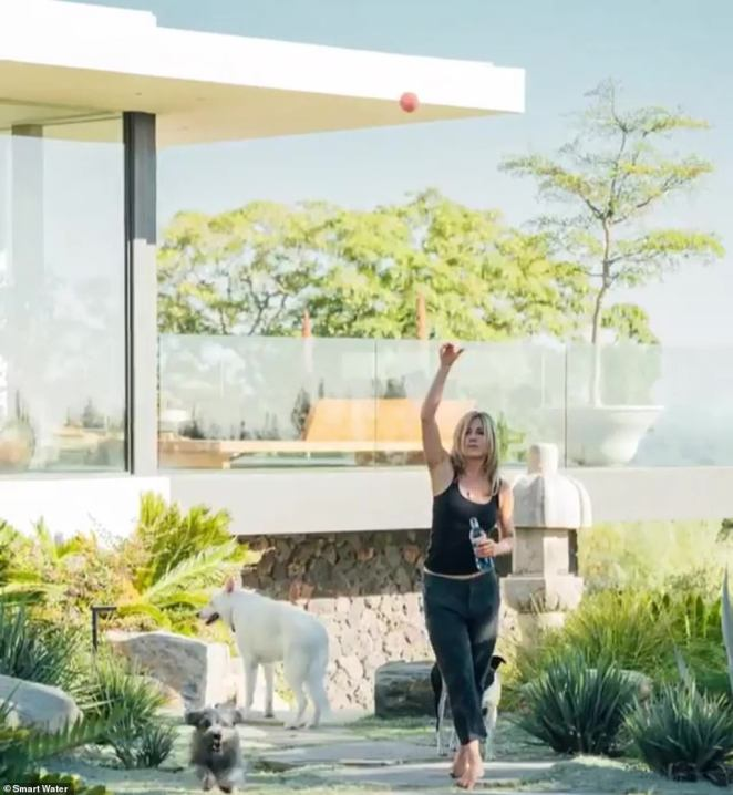 Luxury living: Jennifer shot a Smart Water campaign at her home in 2017