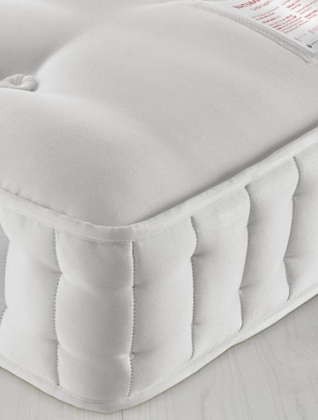 A close look at the recyclable mattress, which was developed without glue by the Harrison Spinks engineers