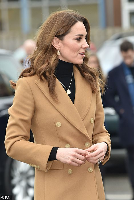 Kate visits Cardiff today following a trip to Birmingham yesterday