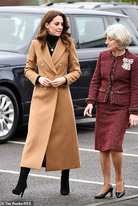 The Duchess of Cambridge stops off in Cardiff today for her second visit on a three-leg trip around Britain over 24 hours