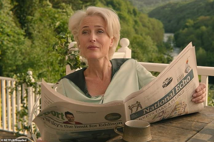 The chalet's owner, Stuart Morgan, a semi-retired insurance broker in the area, told FEMAIL last year that it was unrealistic to see Gillian Anderson hanging on the deck, which he built in 2002, a few years after he bought the property - for £355,000 Was.