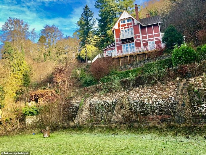 When Hollywood Calls: Viewers have fallen in love with the 1912 wooden estate, originally built in Norway, on the banks of the River Vee at Symonds Yacht in Herefordshire - and central character Otis (Asa Butterfield) And it's his house.  Mother Dr. Jean Milburn - a sex therapist - in sex education