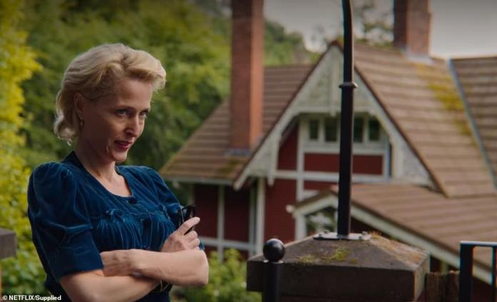 Gillian Anderson outside the estate in series two - a four - night break in peak season cost around £4,000 .  Is