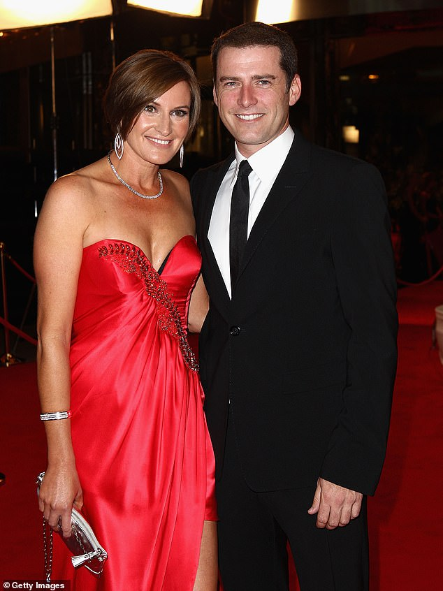 Exes: Karl and Jasmine began dating in late 2016, five months after he had separated from his first wife, Cassandra Thorburn, following 21 years of marriage. Pictured in2011