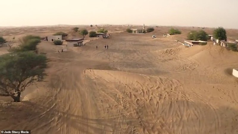 This still from Jade's drone footage shows the 'main street' of the village
