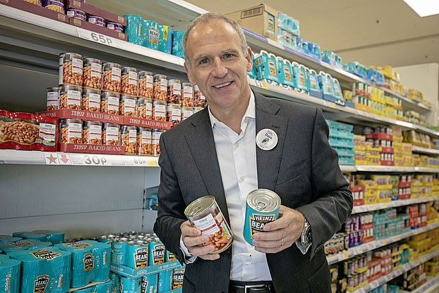 At the start of 2018 we undertook the most far-reaching review of packaging ever done in our business. Since then we've removed more than 4,000 tons of materials from 800 products, including the hardest to recycle materials. Tesco Chief Executive Dave Lewis is pictured above